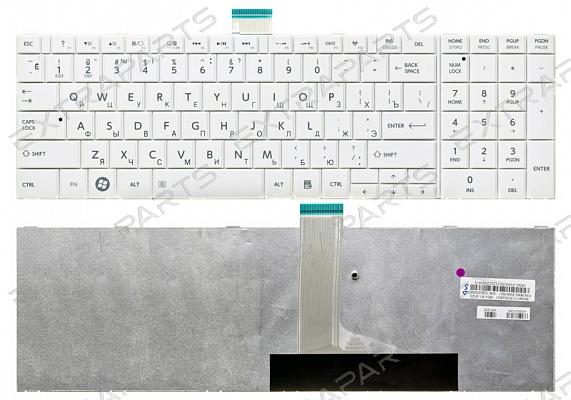 Клавиатура для ноутбука Toshiba Satellite L850 L850D (RU) белая V.2 : Клавиатуры для ноутбуков TOSHIBA : ExtraParts.Ru - комплектующие, запчасти для ноутбуков и мобильных устройств.